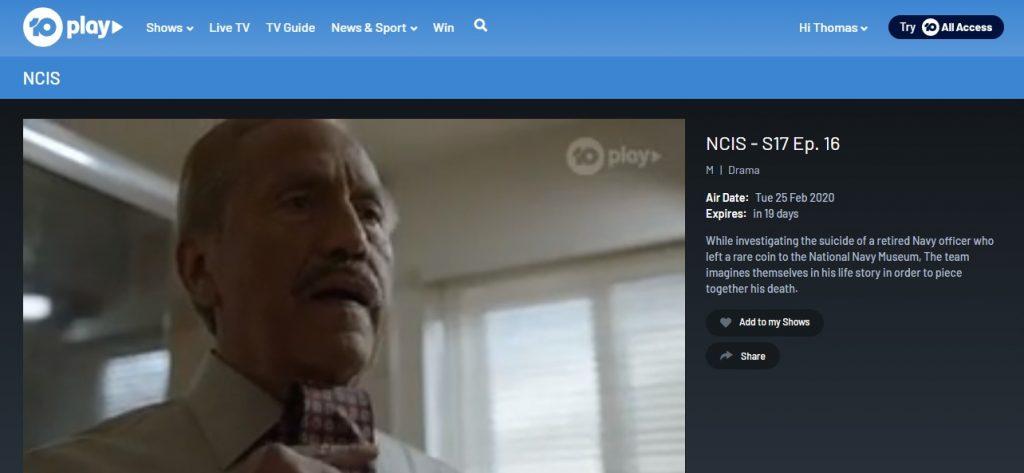 I am watching NCIS on Tenplay!